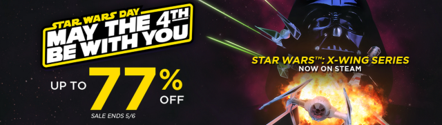 Steam had the better sizzle image for its sale, but GOG.com has the bigger selection of <em>Star Wars</em> games right now.