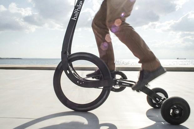 Halfbike II is a pedal-powered Segway hybrid