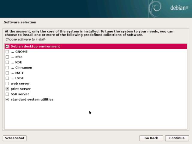 The wide variety of Desktop options in Debian 8.