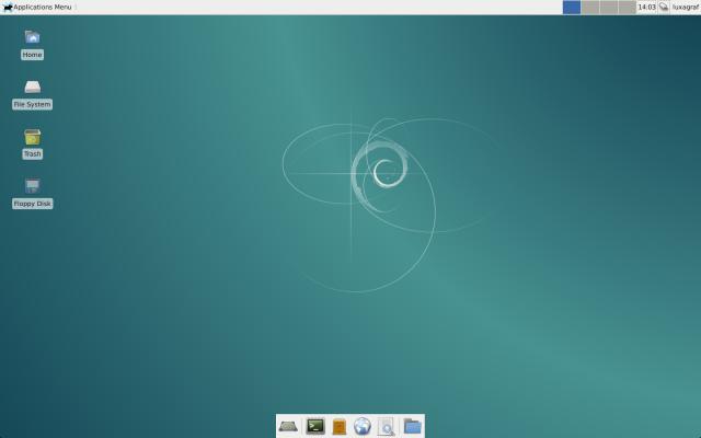 Debian with a barebone install of Xfce.