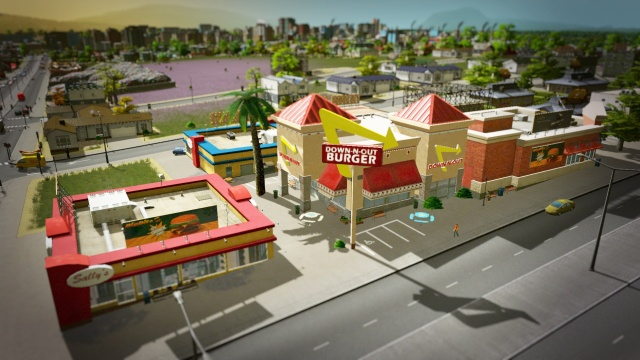 One of Shannon's first <i>Cities: Skylines</i> creations, based on the real-world In-N-Out franchise.