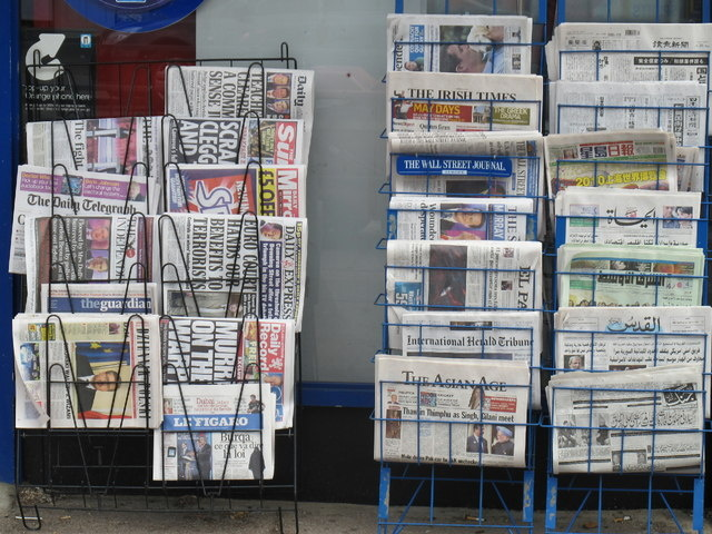 European and international newspapers