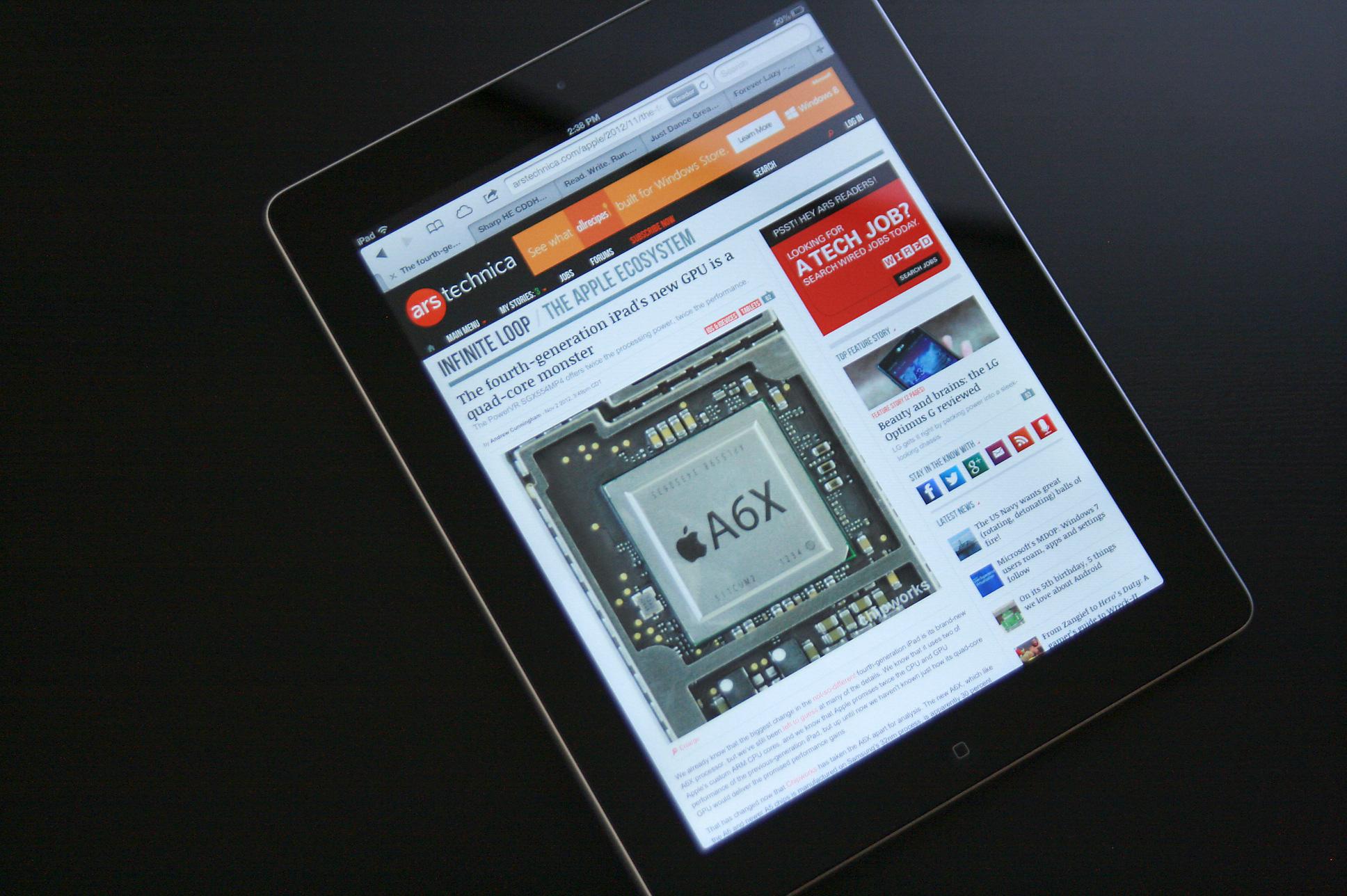 The fourth-gen iPad.