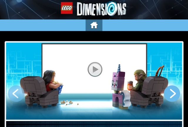 LegoDimensions.com as it currently looks under the control of Warner Bros. and Lego.