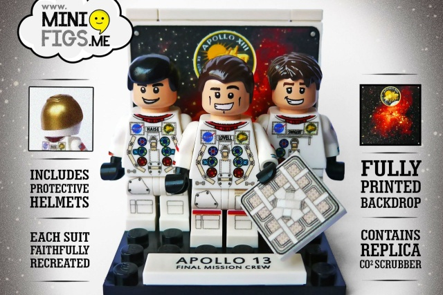 Apollo 13 crew immortalized in custom Lego set