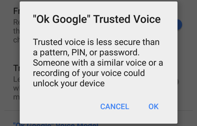 "My voice is my passport: Android gets a ""Trusted Voice"" smart lock"