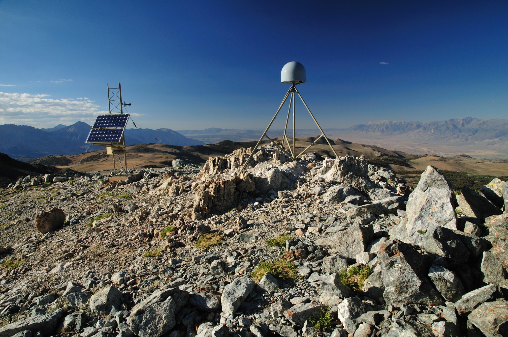 A GPS station in the eastern Sierra Nevada.