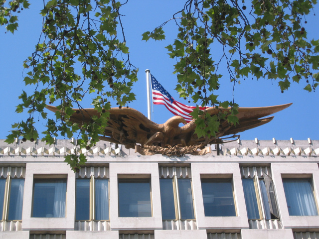 The Embassy of the United States in London.