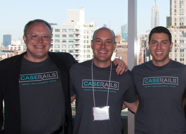 The current CaseRails team. Founder Erik Dykema is on the far left.