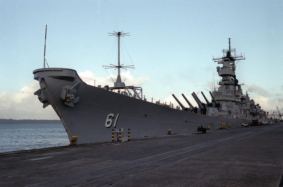 The way <em>Iowa</em> looked when I reported aboard in January, 1987.