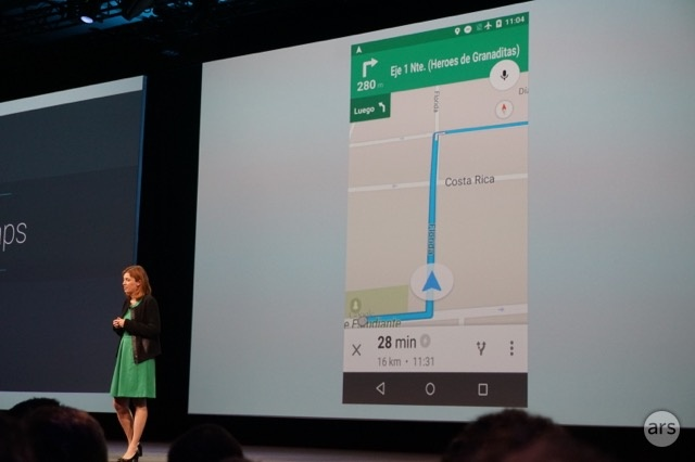 Google Maps allows turn-by-turn navigation—offline