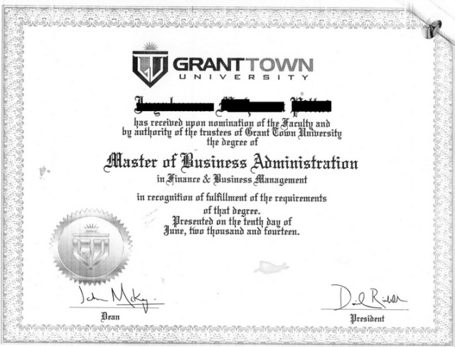 This diploma from an Axact-owned fictional university was published by <i>The New York Times</i> earlier this month. Axact's CEO was arrested yesterday in Karachi.