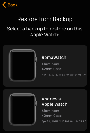 Backing up and restoring an Apple Watch is not unlike backing up and restoring an iDevice.