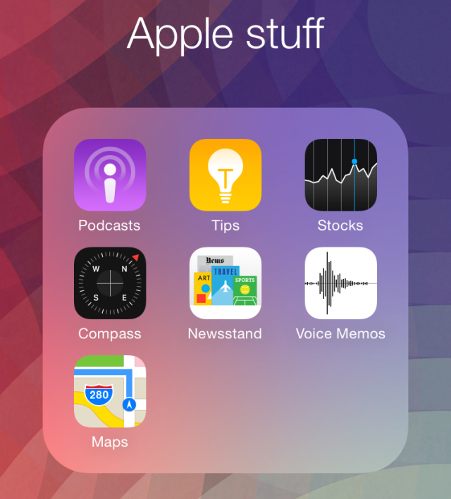 They all look a little different, but everybody has one: that folder of Apple stuff you don't want but can't hide or uninstall.