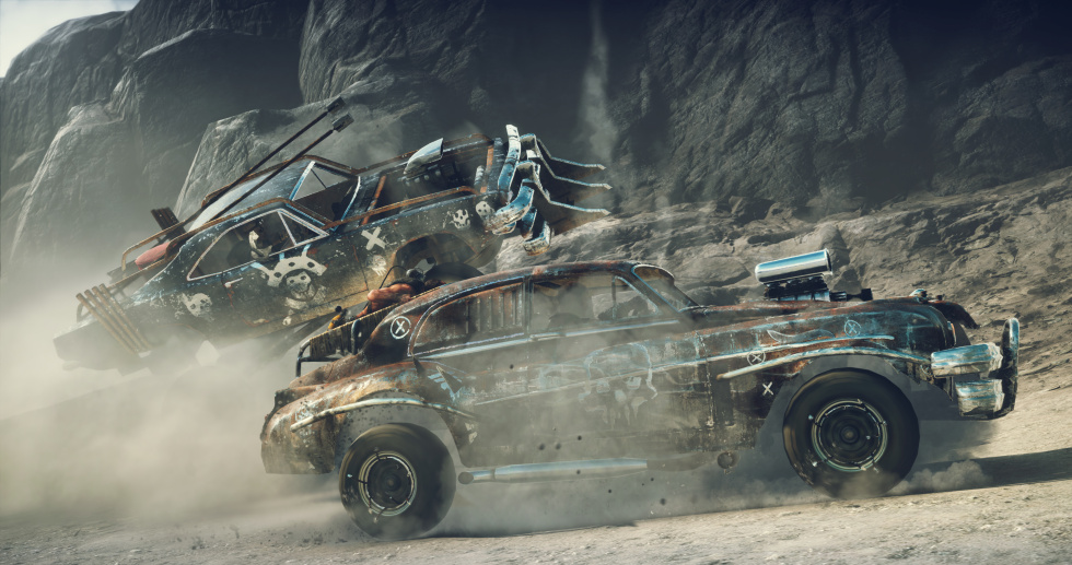 The actual game doesn't look as good as these staged, publisher-provided shots, but this gives you some idea of how the car combat looks and feels.