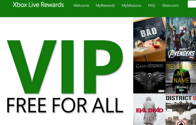 Xbox Live Rewards moves beyond free points, gives away actual prizes