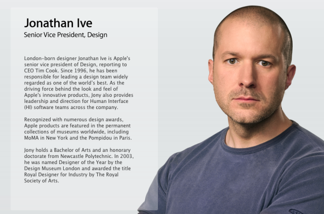 As chief design officer, Jony Ive will still oversee Apple's design teams but will hand off his day-to-day managerial responsibilities.