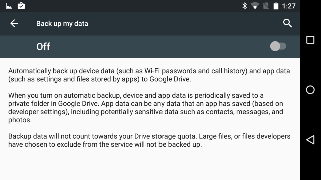 M isn't the first Android version to promise app data backup, but we're cautiously optimistic.