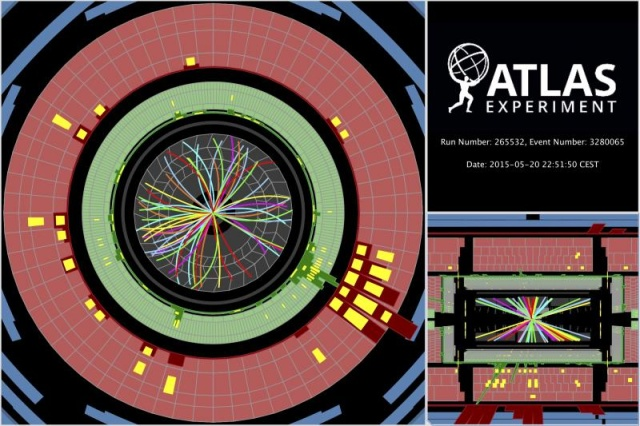 Large Hadron Collider records first collisions at new, record energy