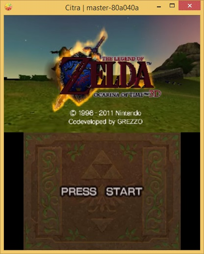 An early demonstration of <i>Ocarina of Time 3D</i> running through Citra.