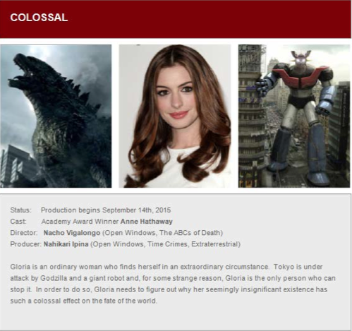 Voltage Pictures sent out this promotional e-mail at this year's Cannes Film Festival. Toho lawyers say the picture on the left is a publicity image from the 2014 Godzilla movie.