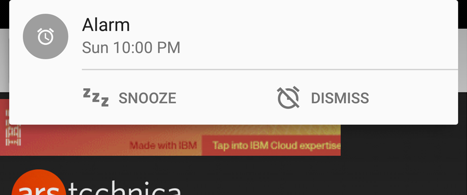 A heads-up notification in Lollipop.