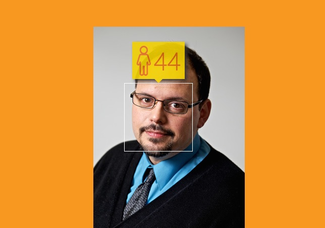 How Microsoft's How-old.net presents the same data spit out by the raw API call.