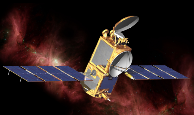 Artist's conception of the Jason-2 satellite.
