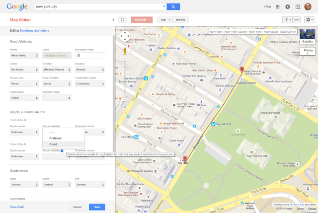 Google Map Maker in action.