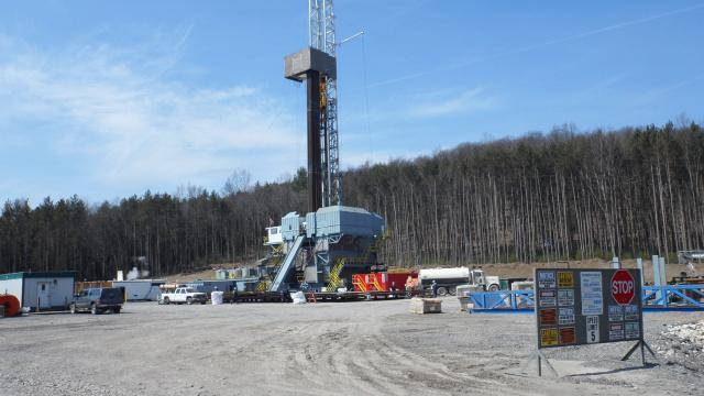 A Pennsylvania shale gas drill rig.
