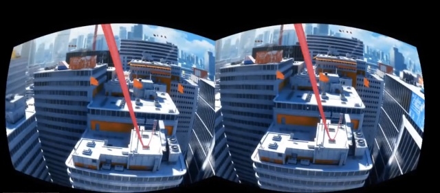 This is just a mod to get <i>Mirror's Edge</i> working on the Oculus Rift, but it gives some idea of what we might expect from Ubisoft in the near future.