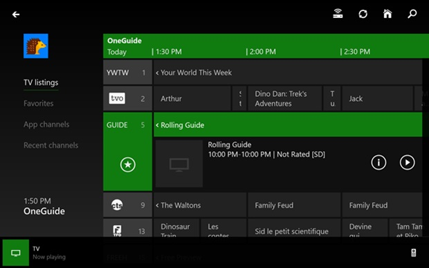 This Xbox One program guide may soon include the ability to record live TV programs, if a new report is to be believed.