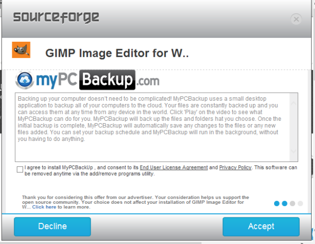 SourceForge grabs GIMP for Windows' account, wraps installer in