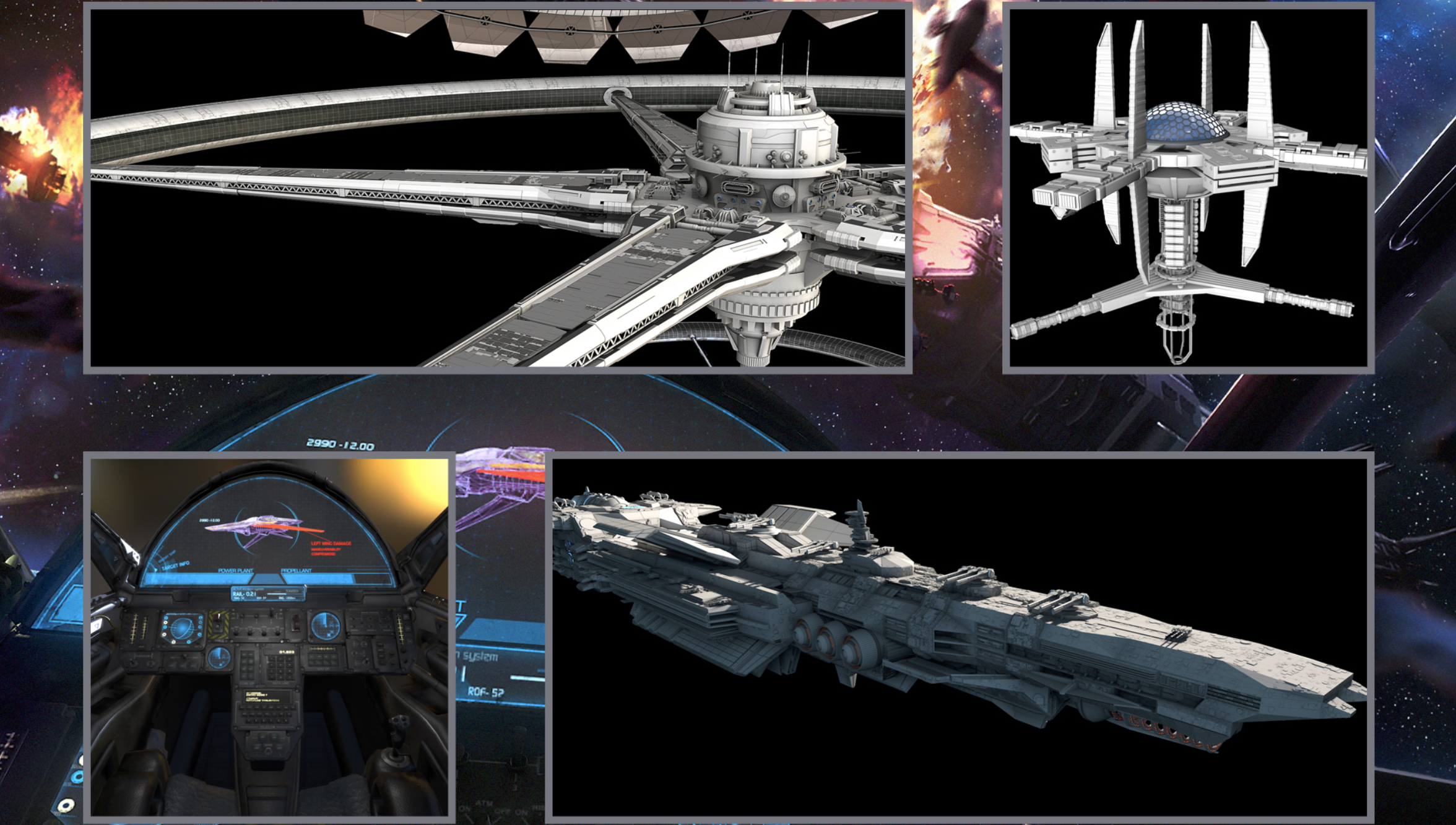 Concept art from the <em>Starfighter Inc.</em> press kit.