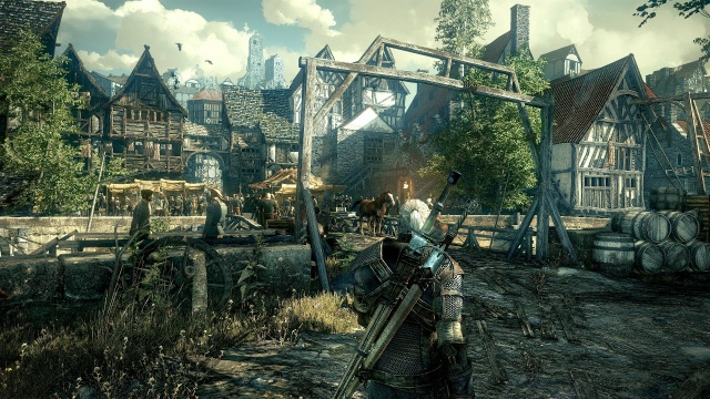 <em>The Witcher 3</em> in action.