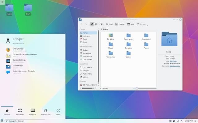 Kubuntu 15.04, featuring KDE Plasma 5.