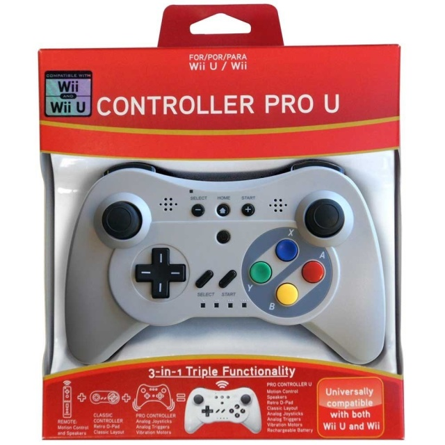 What's likely to be the default controller for the Retro VGS combines old-school design with newer dual-analog controls.