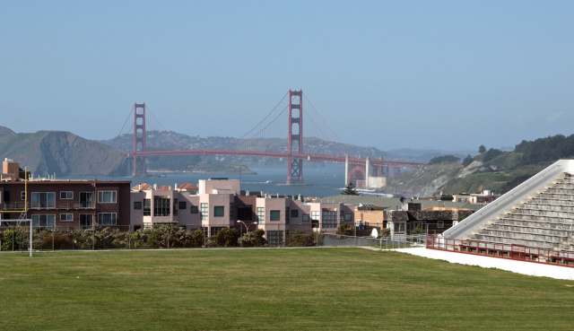 This is the view from George Washington High School, in San Francisco.