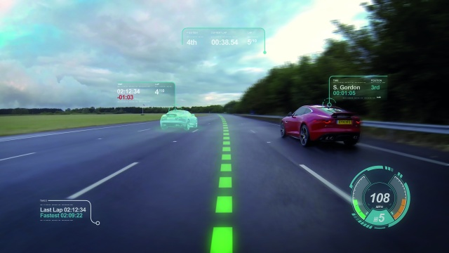 Jaguar's Virtual Windscreen technology. We literally cannot wait for this to advance from the R&D lab to the track.