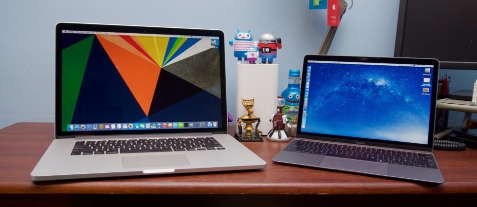 Biggest, fastest MacBook meets smallest, slowest MacBook.
