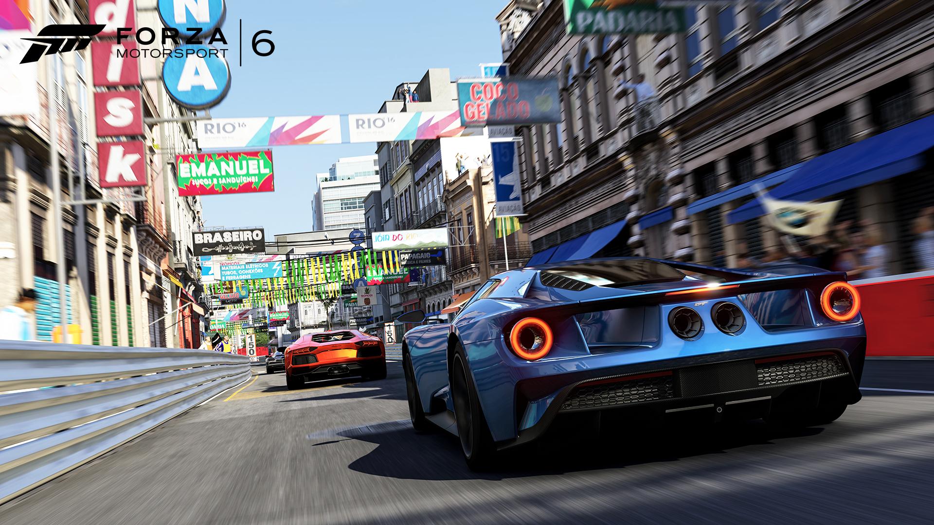 The new Rio track in Forza Motorsport 6