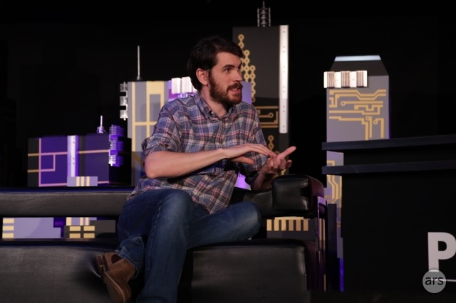 "Sean Murray at the <a href=""http://live.arstechnica.com/pc-gaming-show-at-e3-2015/"">PC Gamer</a> show on Tuesday evening."