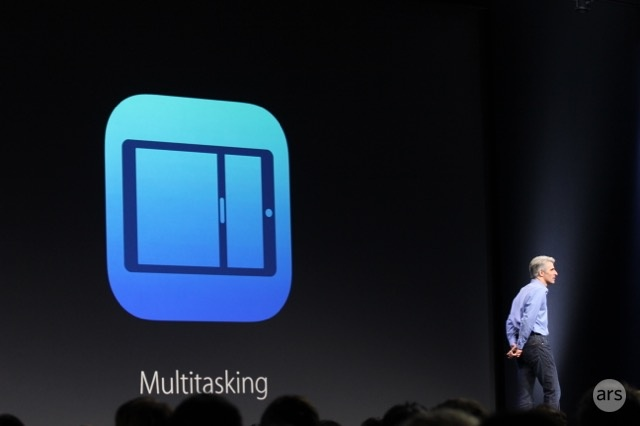 Craig Federighi details iPad multitasking at WWDC.