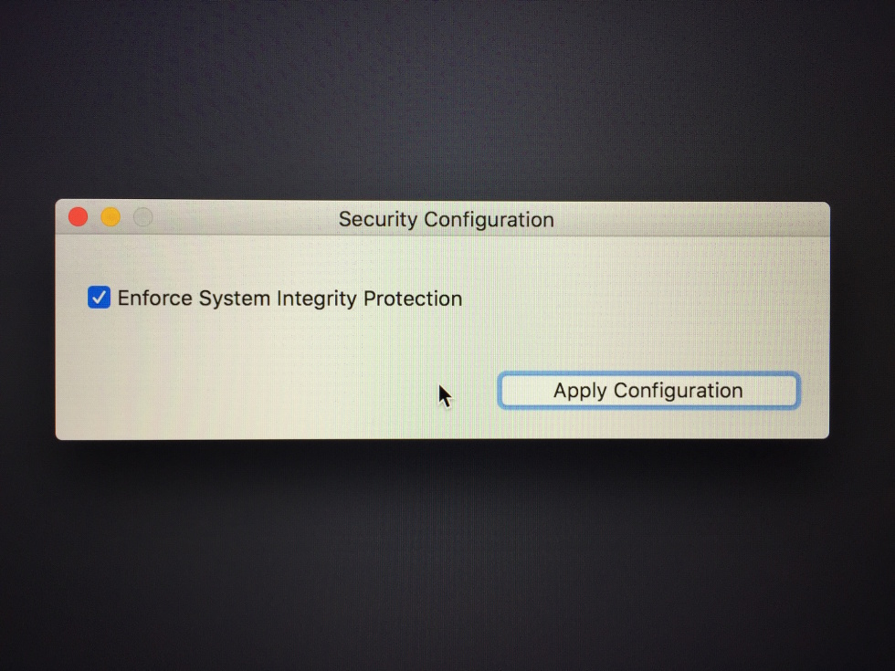If you want to disable System Integrity Protection, you'll need to do it from the recovery partition.