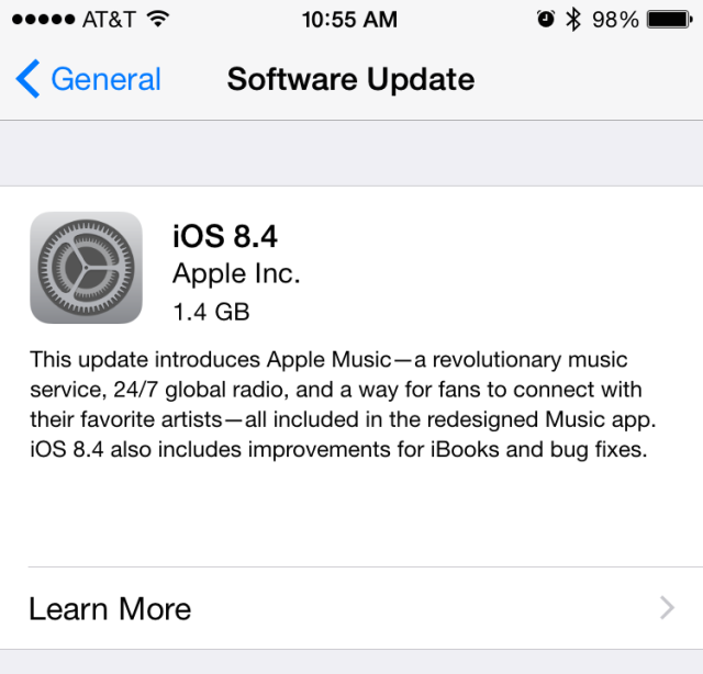 Apple releases iOS 8.4 with new Music app, fix for crashing bug