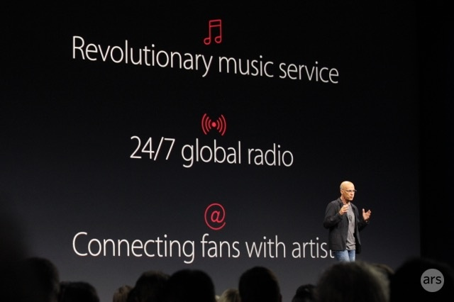 Jimmy Iovine announces new Apple Music app.
