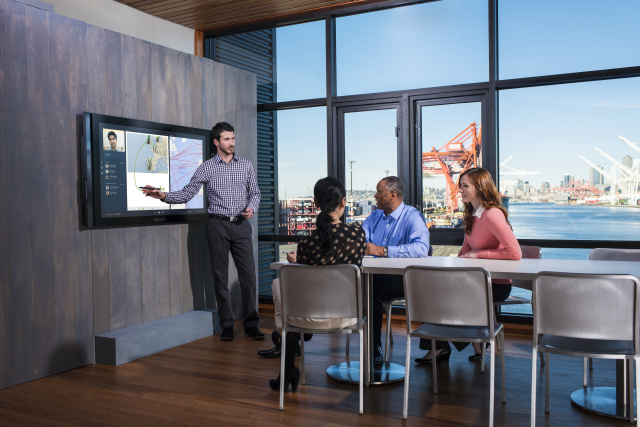 With a Surface Hub everyone at a meeting will be interested and engaged and not secretly playing <em>Threes</em> on their phone.