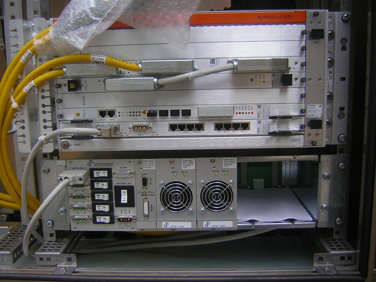 DSLAM equipment for providing DSL Internet access.