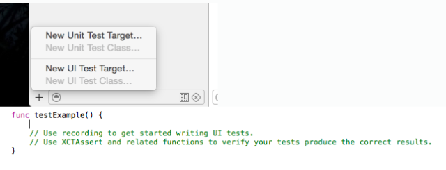 It's now possible to create UI Unit Tests through the interface. To populate a test, simply click within it and start recording interface actions.