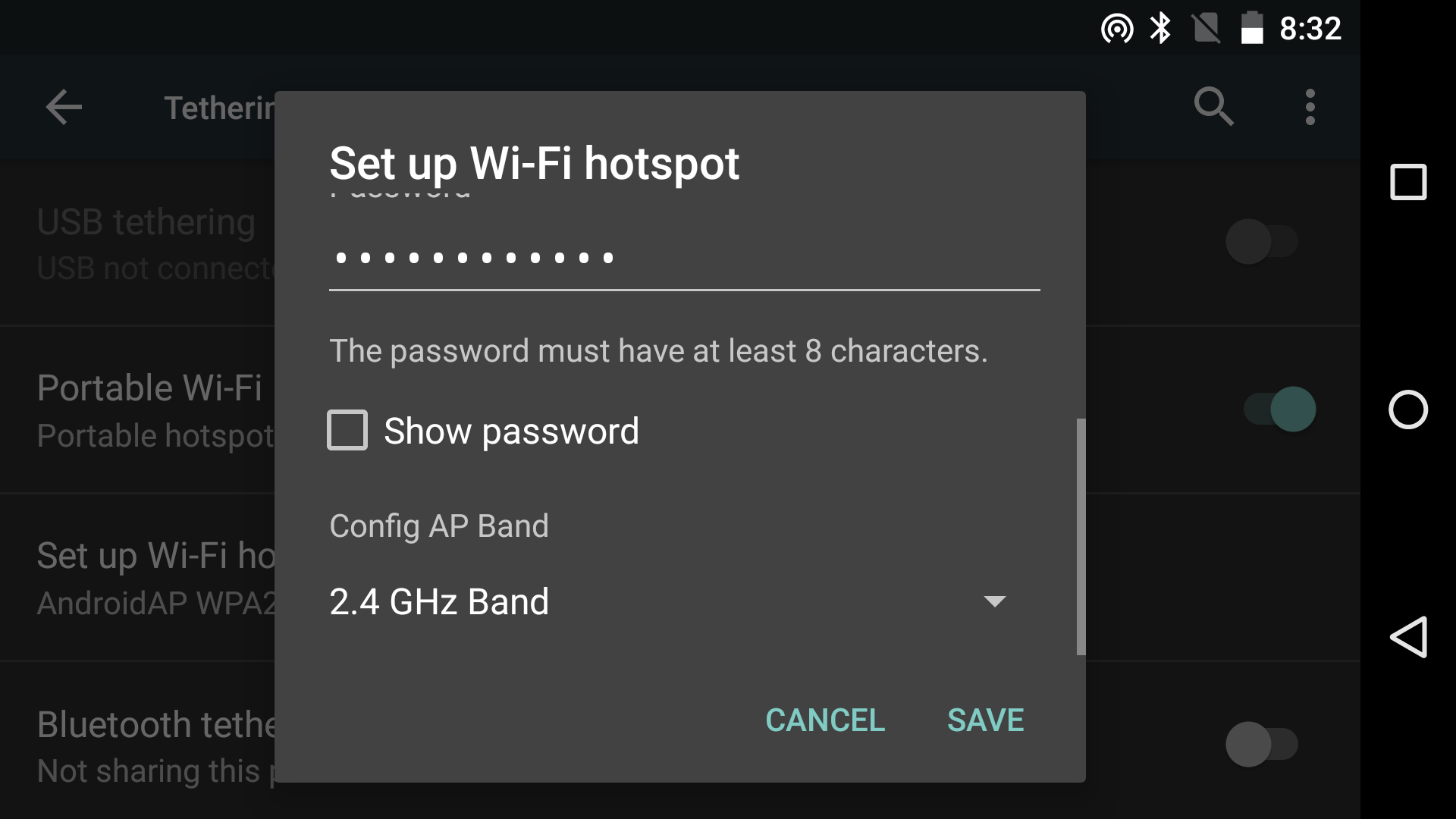 2.4GHz or 5GHz Wi-Fi hotspot support—pick your poison.